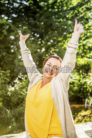 portrait of happy mature woman in