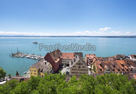 germany meersburg lake constance harbour and