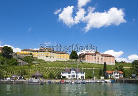 germany meersburg harbour with royal stables