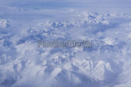 italien alpen luftbild der berge im