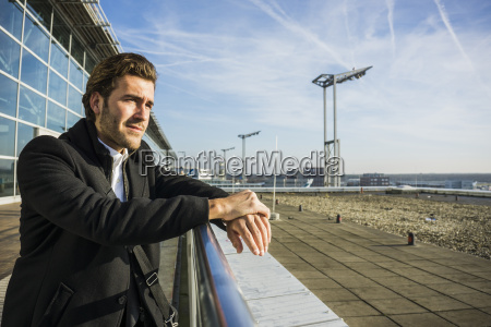 germany frankfurt young businessman at the