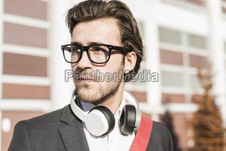 germany frankfurt portrait of young businessman