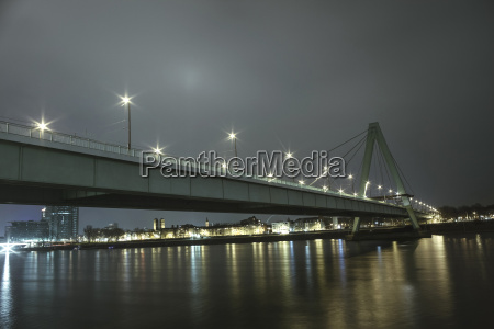 germany cologne view to severinsbruecke at