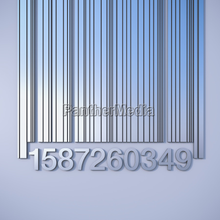 barcode close up 3d rendering