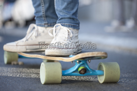close up of a skateboarder