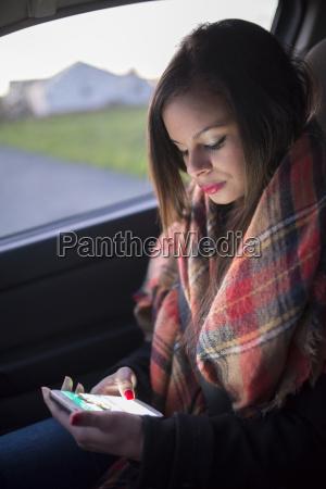 spain ferrol portrait of young woman
