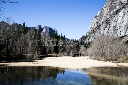 usa california landscape in yosemite national