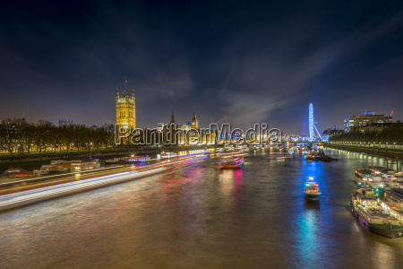 uk london view to river thames