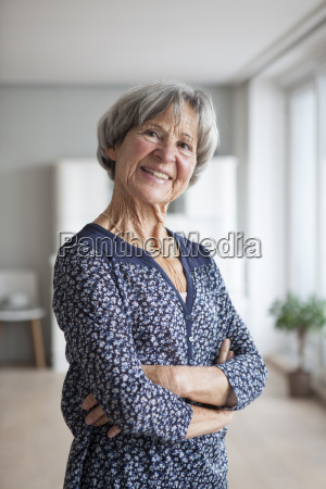 portrait of confident senior woman at