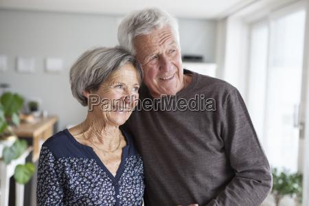portrait of happy senior couple at