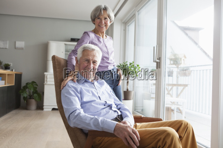 portrait of relaxed senior couple at
