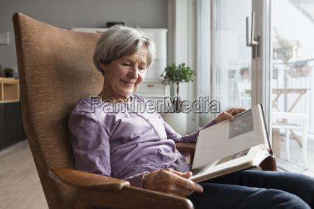 portrait of senior woman sitting on