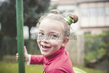 portrait of smiling little girl with