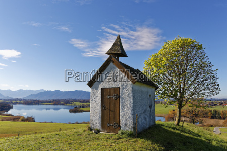 germany bavaria mesnerhaus chapel on aidlinger
