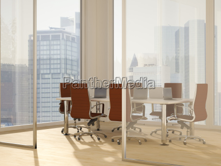 business office modern conference room 3d