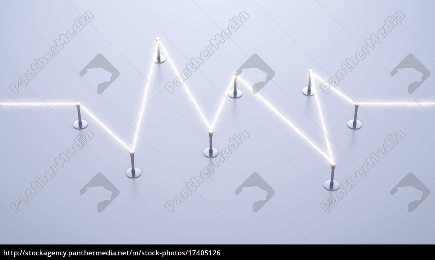 energie, stromfluss, tragen, 3d-rendering - 17405126