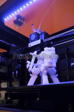 3d robot on a platform of