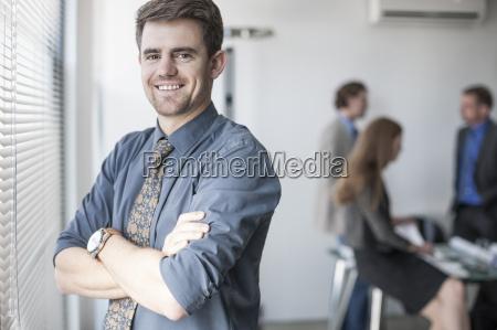 portrait of confident businessman at the