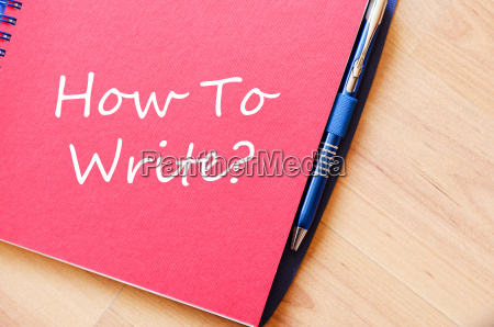 how to write write on notebook