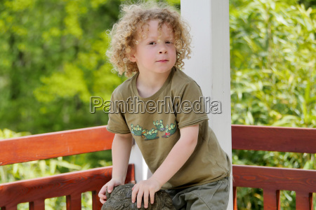 little boy with blond hair and