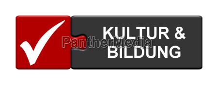 puzzle button zeigt kultur bildung