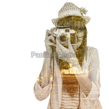 composite image of portrait of a