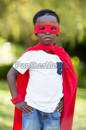 young child dressing up as a