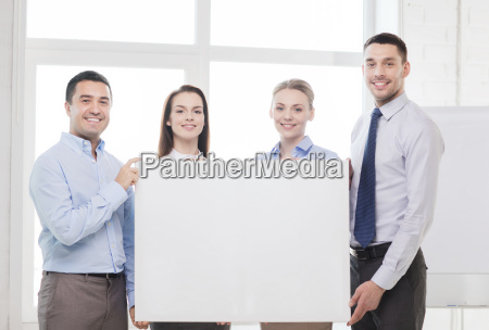business team in office with white