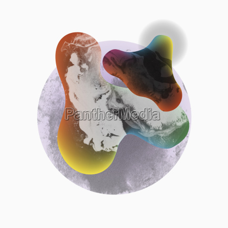 illustrative abstract image against white background