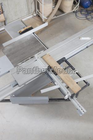 high angle view of lumber on