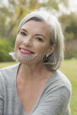 close up portrait of mature woman