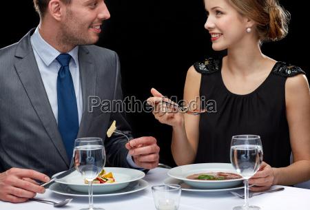 close up of couple talking at
