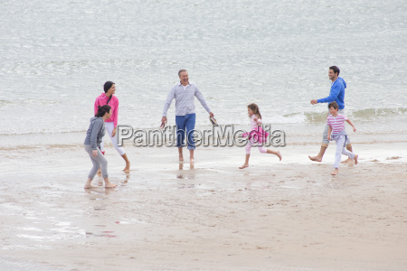 multi generation family playing together on