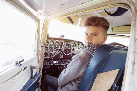 rear view portrait of teenage boy