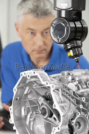 close up of engineer with joystick
