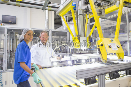 engineer and technician worker smiling at