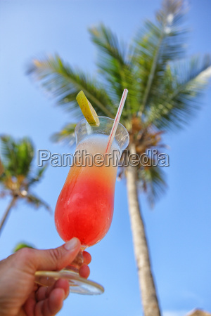 delicious pineapple juice and grenadine background