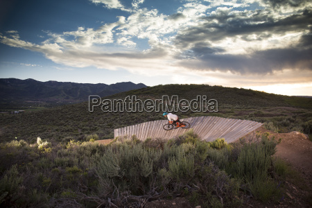 mountain biking trailside bike park in