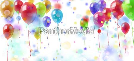 luftballons konfetti bunt