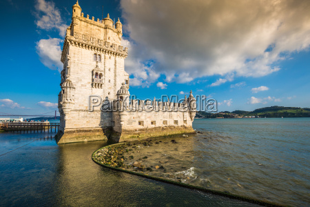 lissabon portugal am turm von belem