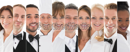 set des restaurantpersonals