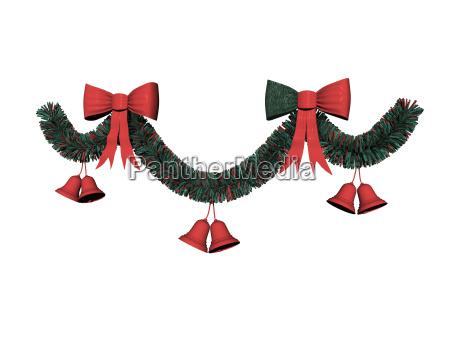 weihnachtskranz freigestellt