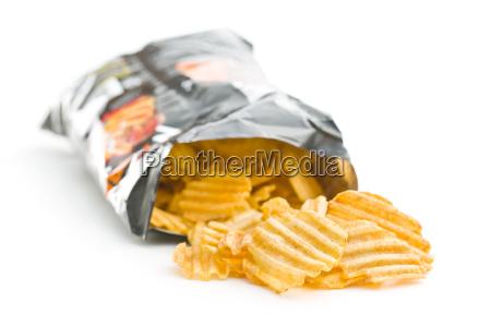 crinkle geschnittene kartoffelchips