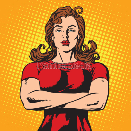 strong female bodyguard athlete