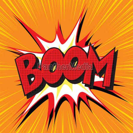 boom explosion comic book text pop