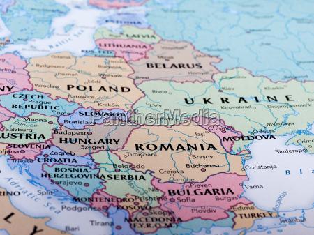 karte von rumaenien