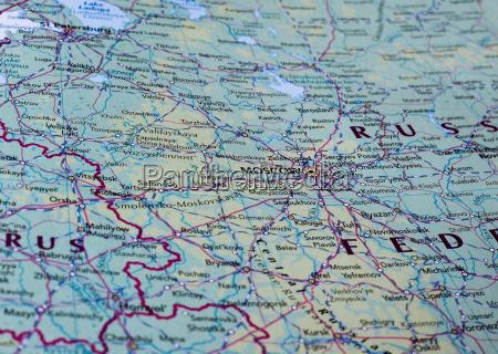 karte von moskau russland