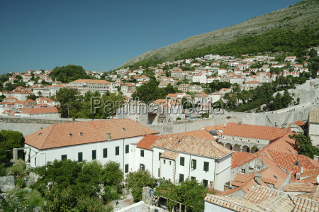 panoramic view to historical buildings in