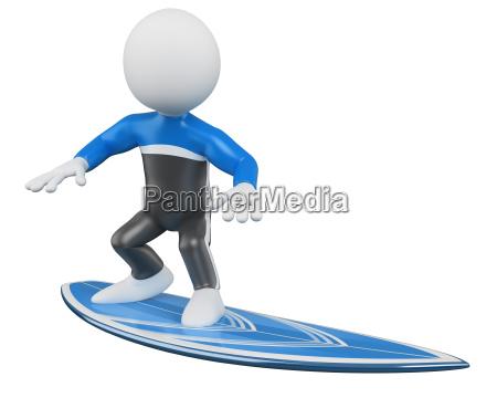 3d surfer surfing