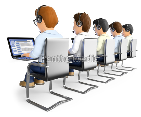 3d men working in a call